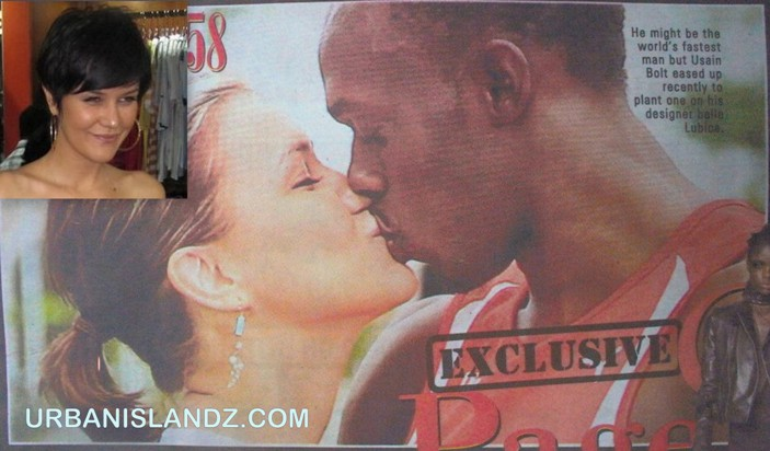 usain bolt and belle lubica kissing
