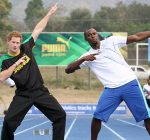 usain bolt and prince harry running