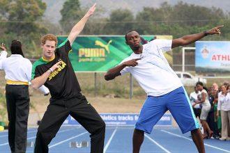 Usain Bolt And Prince Harry Meet On The Tracks [Photo]