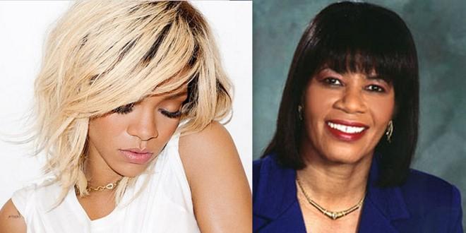 Rihanna and Portia Simpson Miller