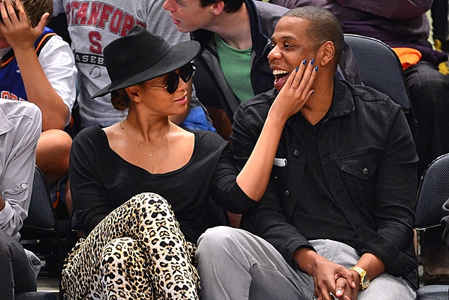 beyonce and jay-z knicks game 11