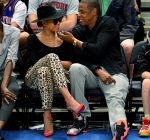 beyonce and jay-z knicks game 2