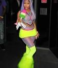 nicki minaj neon outfit