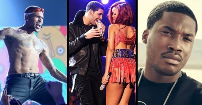 Chris Brown Drake Rihanna Meek Mill