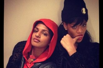 Rihanna And M.I.A Watch The Throne In London [Photo]