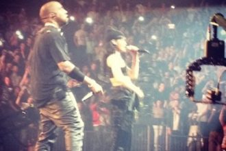 Rihanna Reps For The Throne With Kanye West and Jay-Z In London [Video]