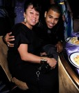 chris brown and his mother