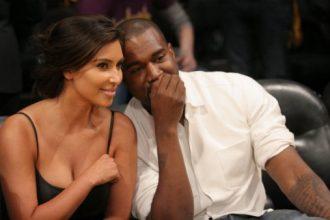 Kanye West And Kim Kardashian PDA Courtside Lakers Game [Photo]