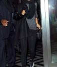 rihanna arriving for SNL performance