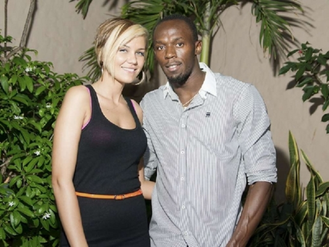 usain bolt and belle lubica