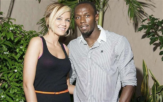 usain bolt and lubica split