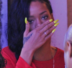 Rihanna red outfit 5