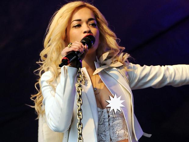 Rita Ora Nip Slip