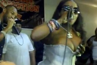 Foxy Brown Wardrobe Malfunction While Performing With Baby Cham