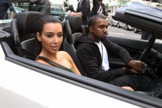 Kanye West And Kim Kardashian Cruise Around Paris In A Lamborghini [Photo]