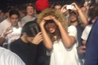 Beyonce Watch The Throne With Kim Kardashian [Photo]