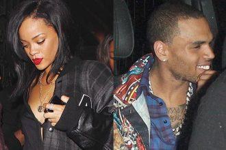 Rihanna, Chris Brown & Karrueche Pop Bottles In Same Club