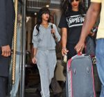 rihanna leaving her london hotel 1