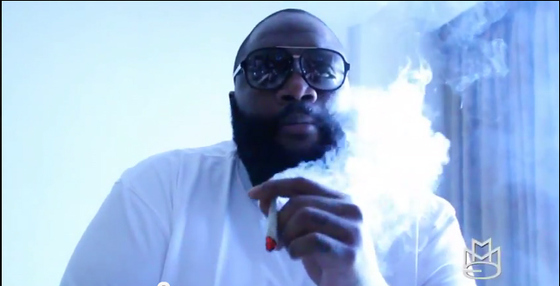 Rick Ross smoking weed in Jamaica 1