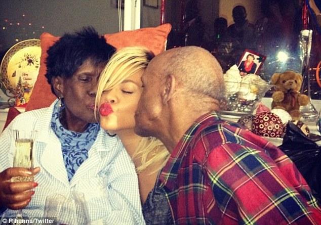 Rihanna and grand parents