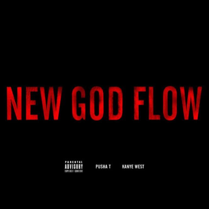 kanye west and pusha t new god flow artwork