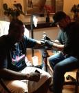 sean kingston getting his tattoo 2
