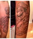 sean kingston mario kart tattoo 2012