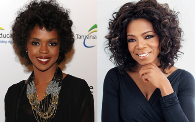 Lauryn Hill and Oprah Winfrey