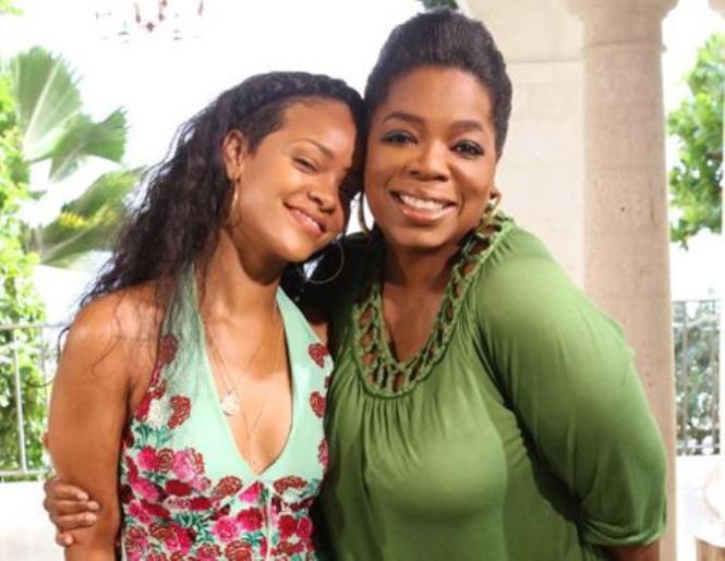 Rihanna and Oprah Winfrey