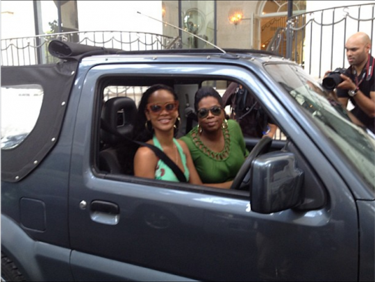 Rihanna and Oprah barbados
