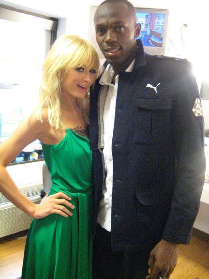 Usain Bolt and Paris Hilton