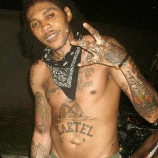 Vybz Kartel tattoos 2013