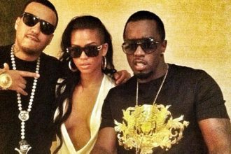 Diddy Drop Papers On Cassie For Her 26th Birthday Party [Photo]