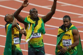 VIDEO: Usain Bolt Win 200 Meter At London Olympic 2012, Jamaica Sweep