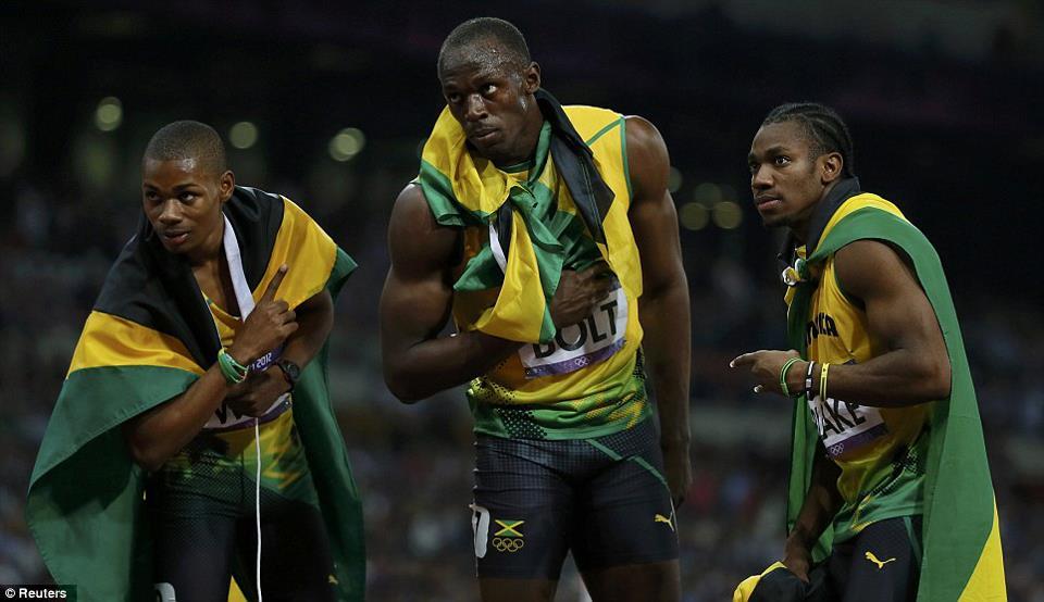 Usain Bolt, Yohan Blake, Warren Weir Gives Jamaica Gold, Silver And Bronze