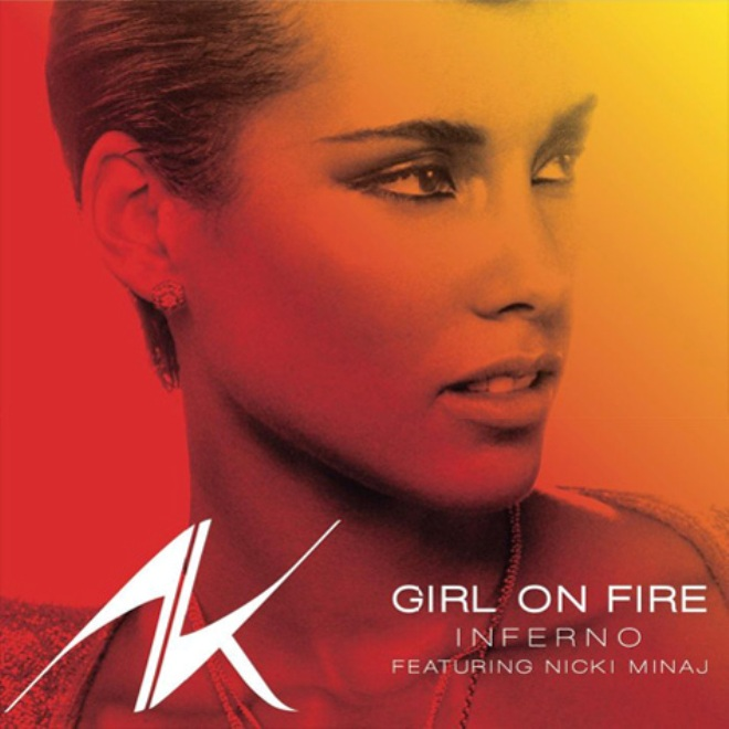 Alicia Keys girl on fire art cover