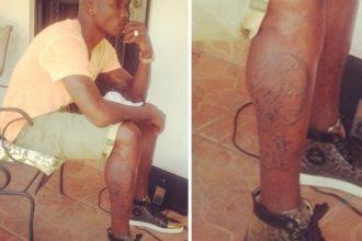 "DRAMA: Chad ""Ochocinco"" Johnson Tattoos Evelyn's Face On His Leg [Photo]"