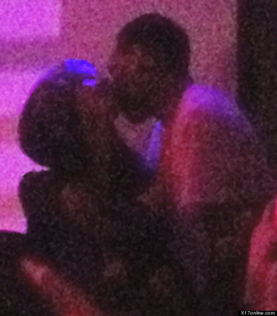 Chris Brown and Nicole Scherzinger kissing at Supperclub