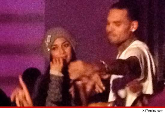 chris brown and Nicole Scherzinger club pic
