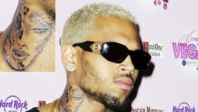 DRAMA: Did Chris Brown Get A Neck Tattoo Of Rihanna? [Photo]