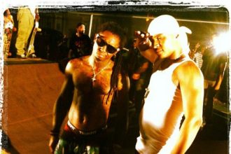 """Lil Wayne And T.I. Shoot """"Ball"""" Video In New Orleans [Photo]"""