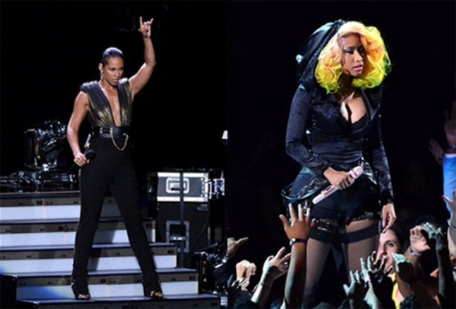 nicki minaj and alicia keys vma