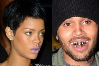 Rihanna Gets Gold Grills To Match Chris Brown's [Photo]
