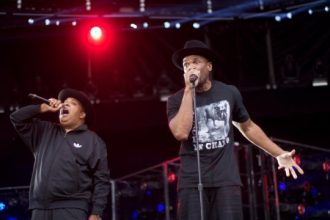 "EPIC: Run-DMC Reunites At ""Made In America Festival"" [Video]"