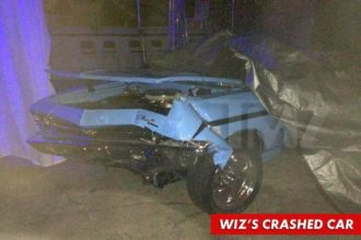 Wiz Khalifa In Alleged Hit And Run, Classic Chevy Destroyed