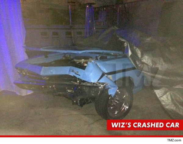 wiz khalifa wrecked car chevy