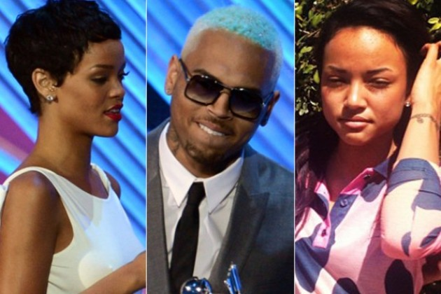 Rihanna-Chris-Brown-Karrueche-tran pic