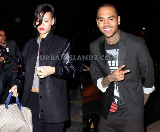 Rihanna and Chris Brown 2013 pic