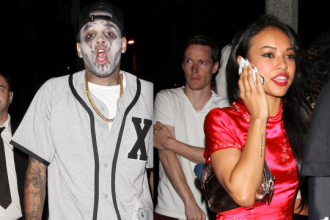 Chris Brown And Karrueche Tran Hit Up The Same Halloween Party [Photo]