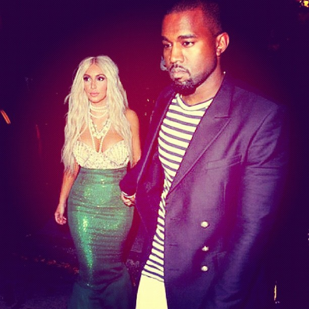 kanye west kim kardashian halloween 2012